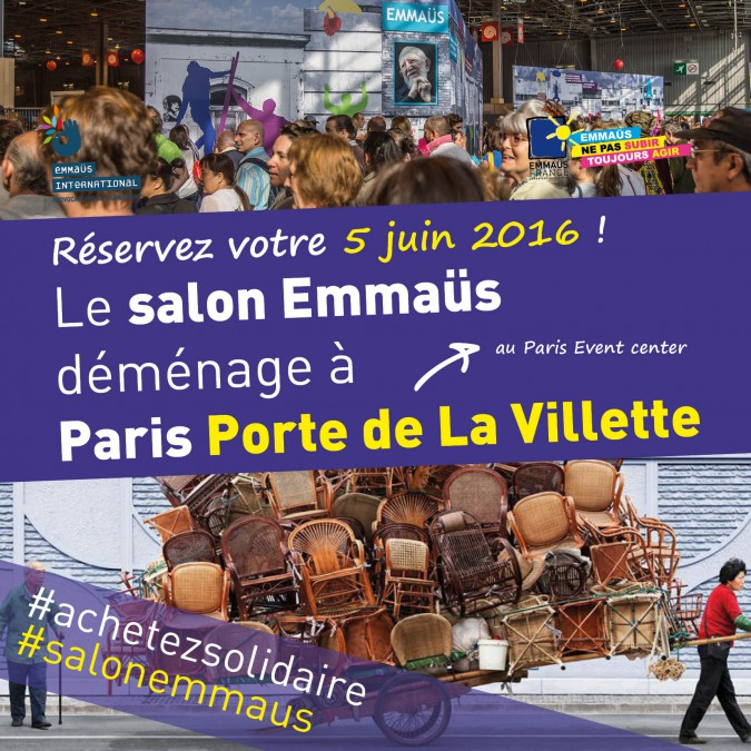 5 juin 2016 salon emma s de paris emmaus france for Salon porte de la villette